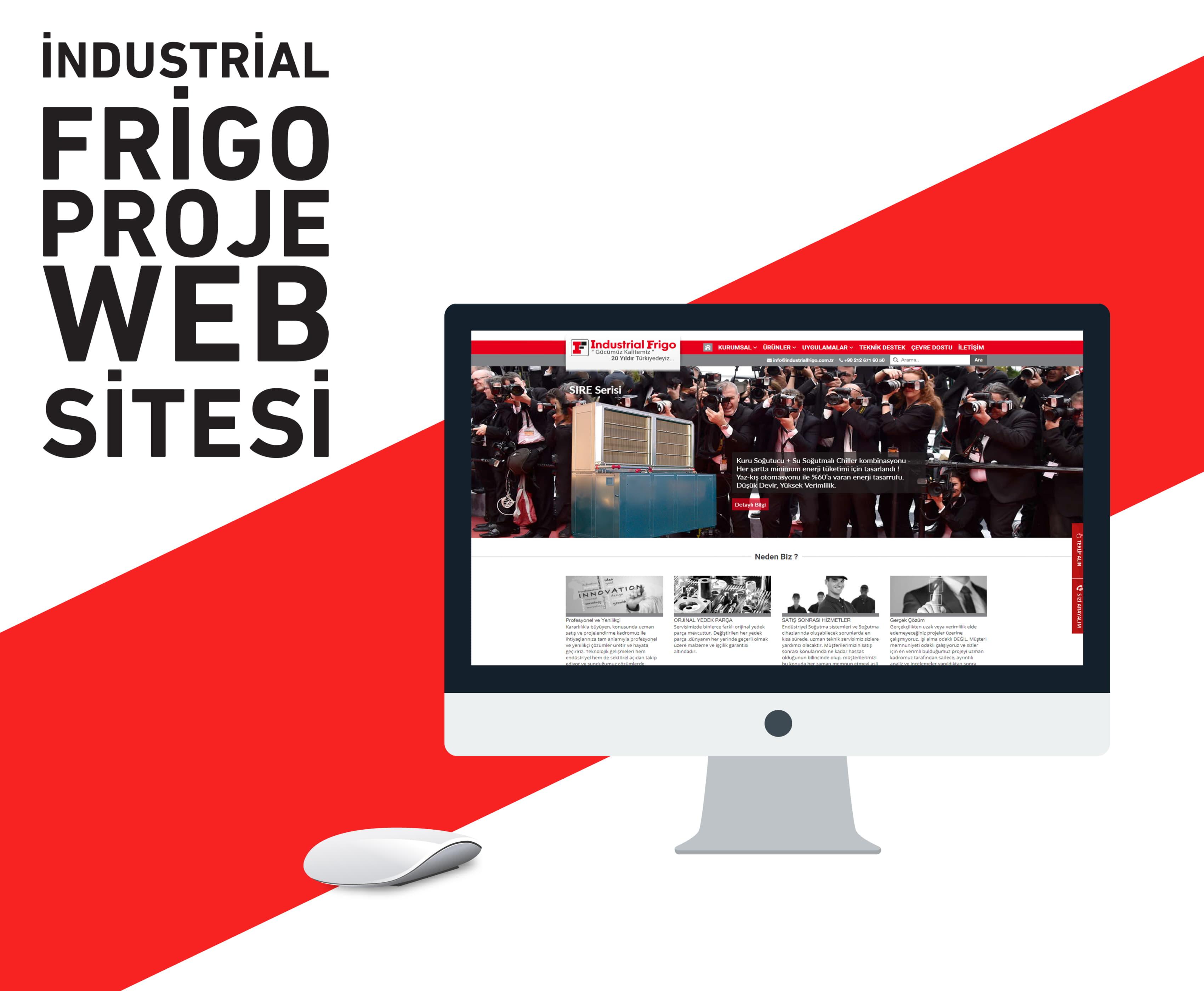 Industrial Frigo Web Tasarımı